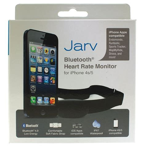 iphone rate monitor jarv premium bluetooth smart rate monitor for iphone