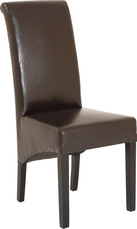 chaise cuir dossier haut chaises dossier haut simili cuir chocolat marron x2