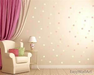 Polka circles wall decor : Polka dot wall decal decor