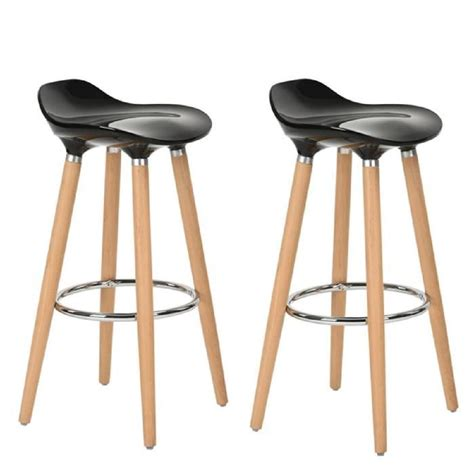tabouret de cuisine 4 pieds furniturer lot de 2 tabourets de bar cuisine scandinaves