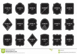 Set of product label templates different shapes stock for Cosmetic label templates