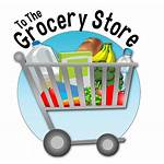 Grocery Clipart Supermarket Shopping Background Icon Cart