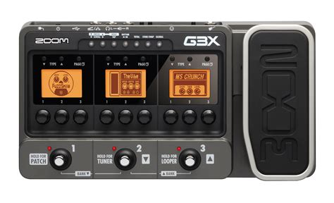 zoom gx guitar effects amp simulator  expression pedal zoom