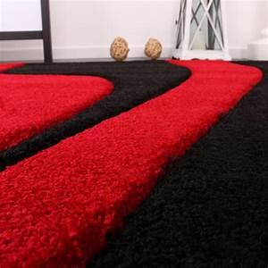 Teppich Laeufer Modern : bettumrandung l ufer teppich muster modern rot schwarz ~ Michelbontemps.com Haus und Dekorationen