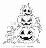 Coloring Pages Royalty Cut Pumpkin Pumpkins Outline Getcolorings Outlined Grin Lantern Stand Another Three Printable Shutterstock sketch template