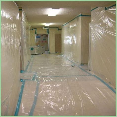 containment set   asbestos acousticpopcorn ceiling
