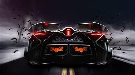 lamborghini egoista concept supercar rear view wallpaper