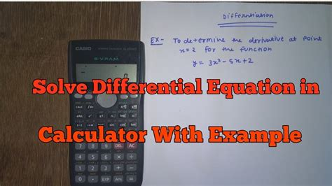solve differential equations  calculator  calculator youtube