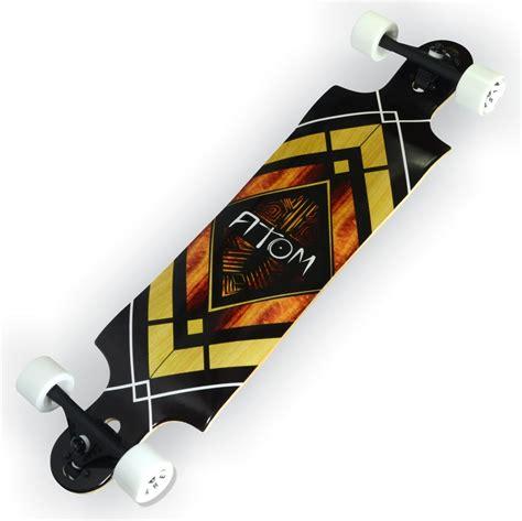 drop deck longboard advantages atom 38 quot drop longboard woody