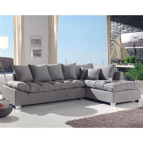 canap 233 d angle gris confortable pas cher
