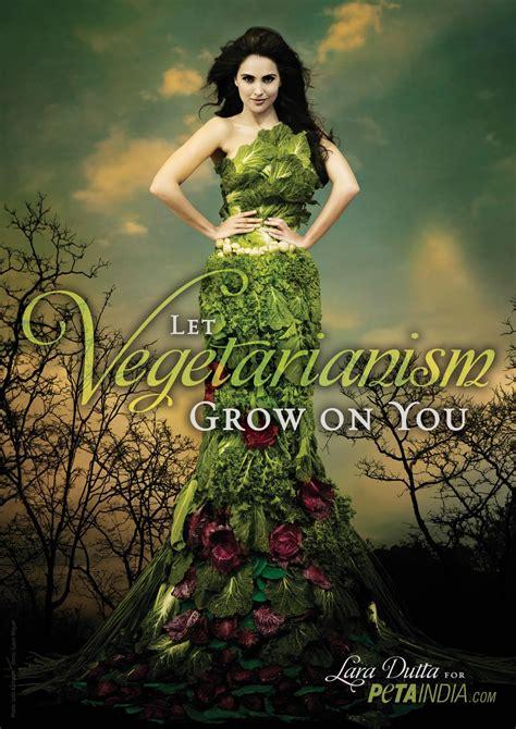 lara dutta peta vegetarian shoot