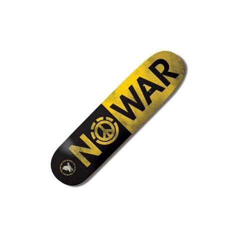 775 element skateboard decks element skateboards element no war skateboard deck 7 75