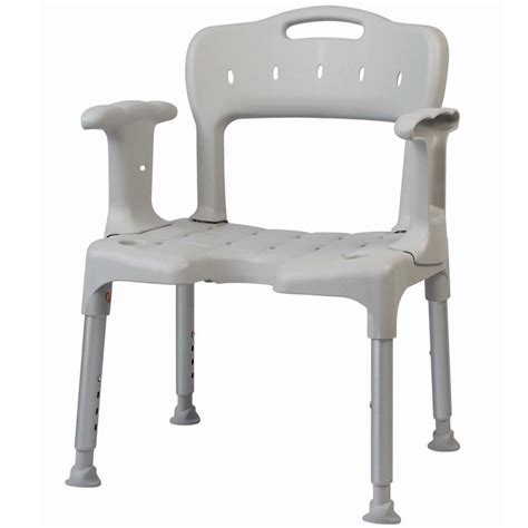 shower chair with armrests and back support product