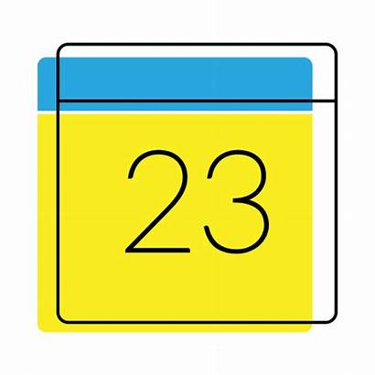 Icon Date Calendar Yellow Transparent Vector Getdrawings