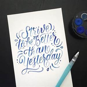 1055 best images about typography calligraphy With water brush lettering