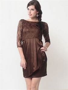 Short brown lace wedding dress styles of wedding dresses for Brown lace dress wedding