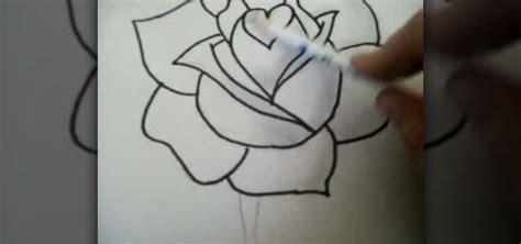 draw  rose step  step  pencil drawing