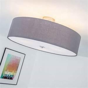 Deckenleuchte 3 Flammig E27 : moderne deckenleuchte lampemit textilschirm 3 flammig 60 cm 3x e27 max 60 watt metall ~ Orissabook.com Haus und Dekorationen