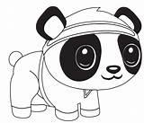 Panda Cartoon Coloring Pages Printable Bear Categories sketch template