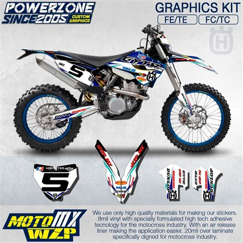 Husqvarna Tc 250 Backgrounds by Customteam Graphics Backgrounds Decals 3m Gytr Stickers