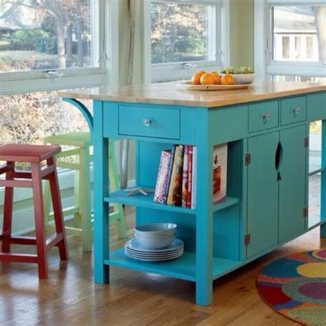 turquoise kitchen island this turquoise kitchen island great accent