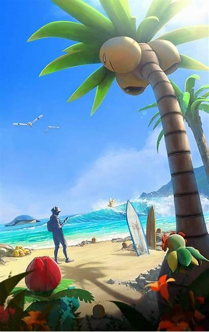 Pokemon Screen Loading Summer Alolan Trade Player