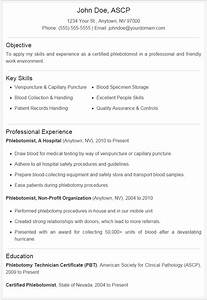 Cover Letter For Phlebotomy Job Phlebotomist Resume Sample Plus Downloadable Template