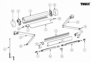 Dometic 9100 Awning Replacement Parts