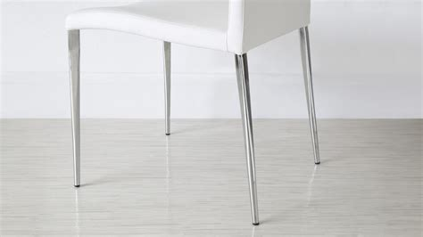 eve white frosted glass  chrome extendable dining table