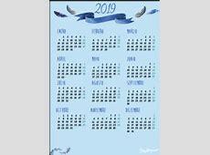 Calendario 2019 en PDF para imprimir gratis con planner