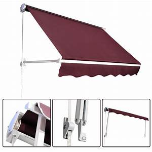 Outsunny Drop Arm Manual Retractable Door Window Awning