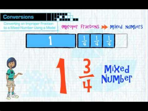 converting improper fractions  mixed numbers youtube