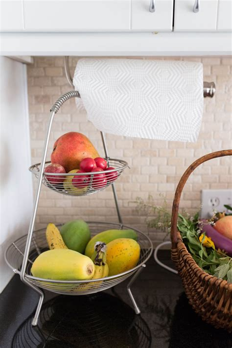 double fruit baskets  kitchen countertops homemydesign