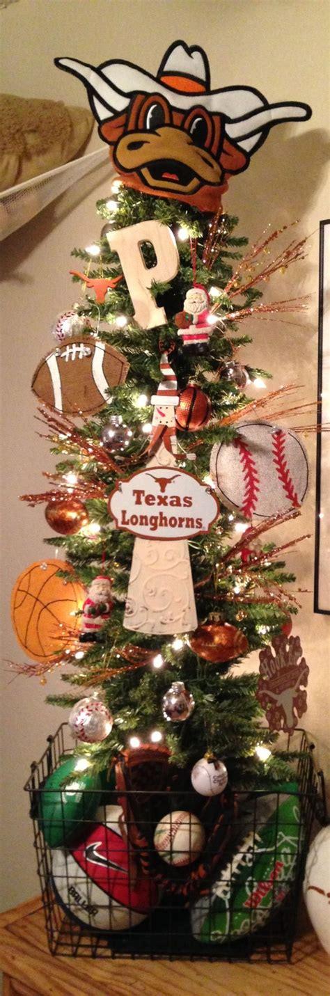texas longhorns sports themed christmas tree