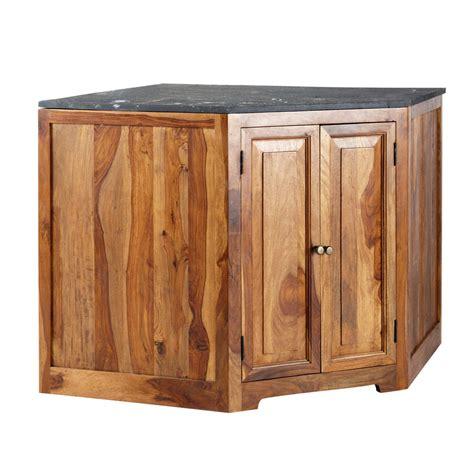meuble de cuisine angle bas meuble bas d 39 angle de cuisine en bois de sheesham massif l