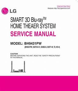 Lg Bh9431pw Home Theater System Original Service Manual