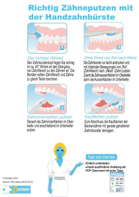 Wie Putze Ich Richtig by Mit Einer Handzahnb 252 Rste Dentaler