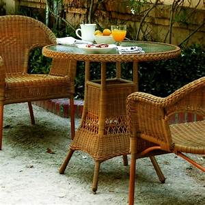Table De Jardin Ronde : table de jardin ronde 70 cm en aluminium et r sine tress e brin d 39 ouest ~ Teatrodelosmanantiales.com Idées de Décoration