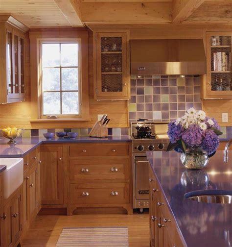 beautiful kitchens  purple walls