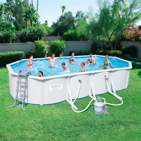 bestway ft  ft hydrium oval steel wall pool set