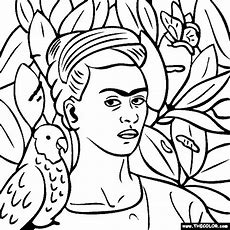 Frida Kahlo Coloring Book. Coloring Book For Me Flowers. Free ...