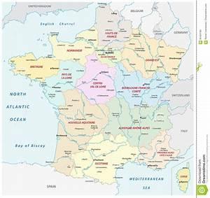 Schöne Städte In Frankreich : frankreich karte mit den neuen regionen und die wichtigsten st dte und die fl sse vektor ~ Buech-reservation.com Haus und Dekorationen