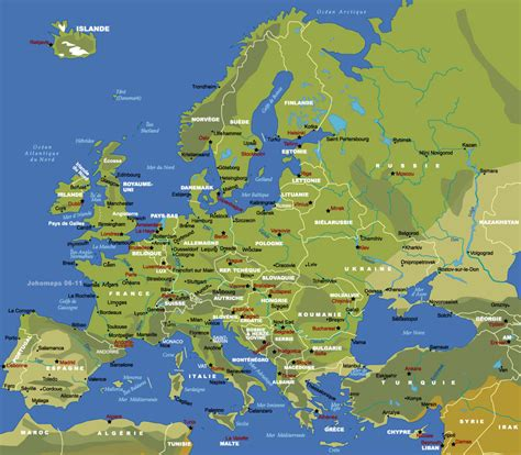 Carte Europe Capitales by Carte Europe Capital Pays