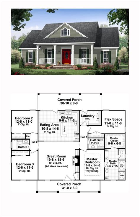 colonial style house plan number    bed  bath