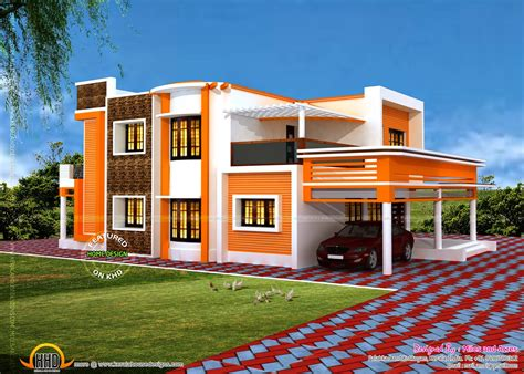 square floor plans for homes floor plan of modern flat roof house kerala home design