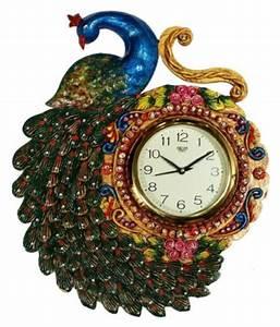 unique, indian, crafts, circular, analog, wall, clock, , , 35, x, 43, cm, , , , buy, unique, indian, crafts
