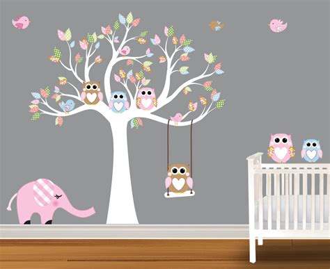 stickers hibou chambre bébé wall decals for rooms modern magazin