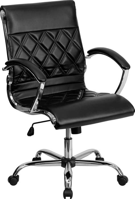 designer x pattern black leather mid back tufted home