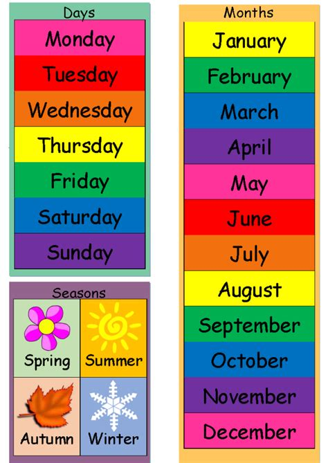 Today Is (Dates, Weather & Seasons) Chart - MindingKids