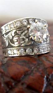 With brandtravis stringer design western jewelry for Western diamond wedding rings